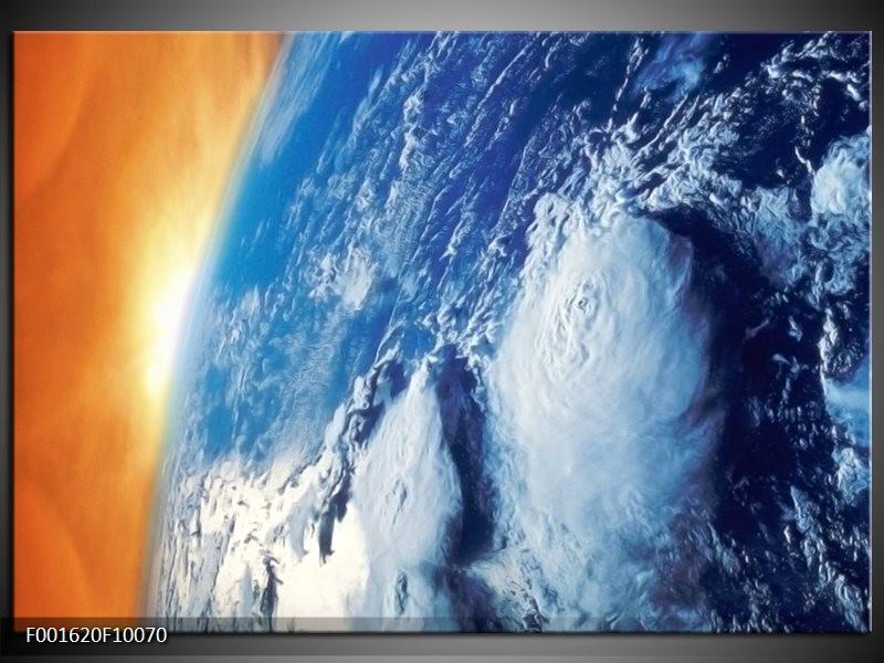 Glas schilderij Natuur | Blauw, Geel, Grijs