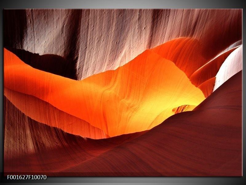 Glas schilderij Zand | Oranje, Bruin, Geel