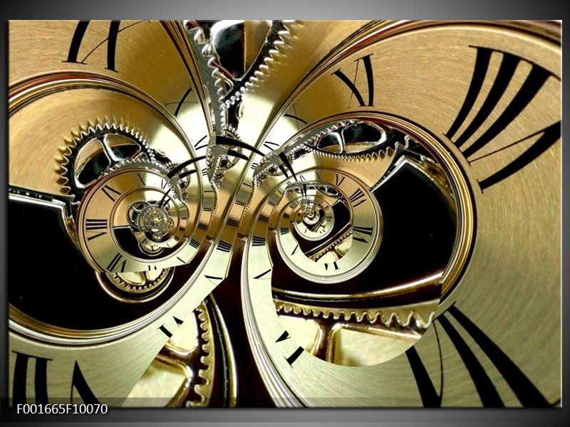 Foto canvas schilderij Abstract | Zwart, Goud, Wit