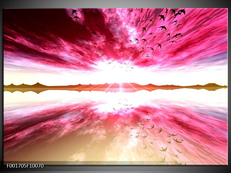 Foto canvas schilderij Abstract | Rood, Wit