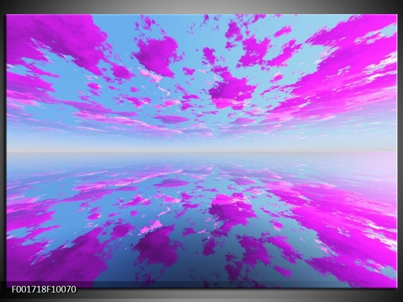 Glas schilderij Abstract   Paars, Grijs