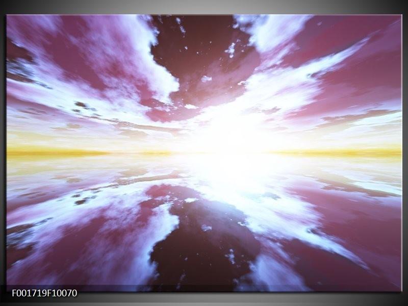 Glas schilderij Abstract | Paars, Grijs, Wit