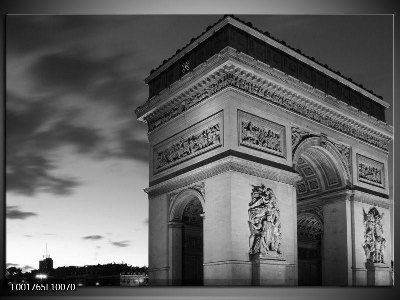 Foto canvas schilderij Parijs | Grijs, Zwart, Wit