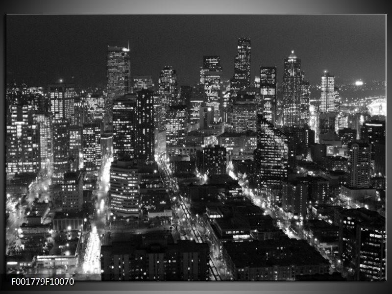 Foto canvas schilderij New York | Zwart, Grijs
