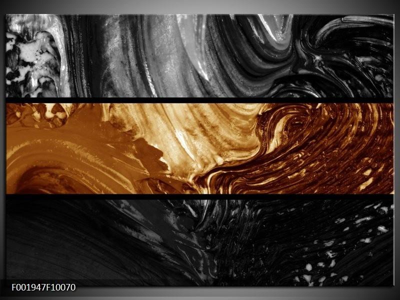 Glas schilderij Abstract | Sepia, Bruin