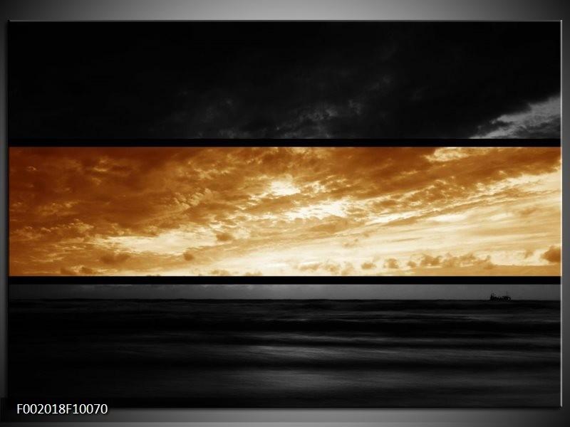 Glas schilderij Natuur   Sepia, Bruin
