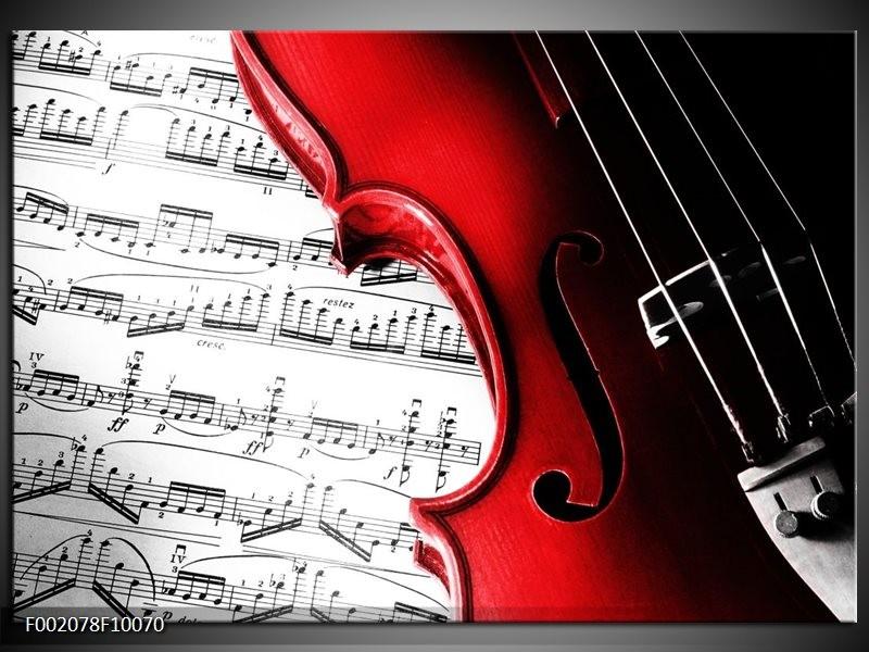 Glas schilderij Instrument   Zwart, Wit, Rood