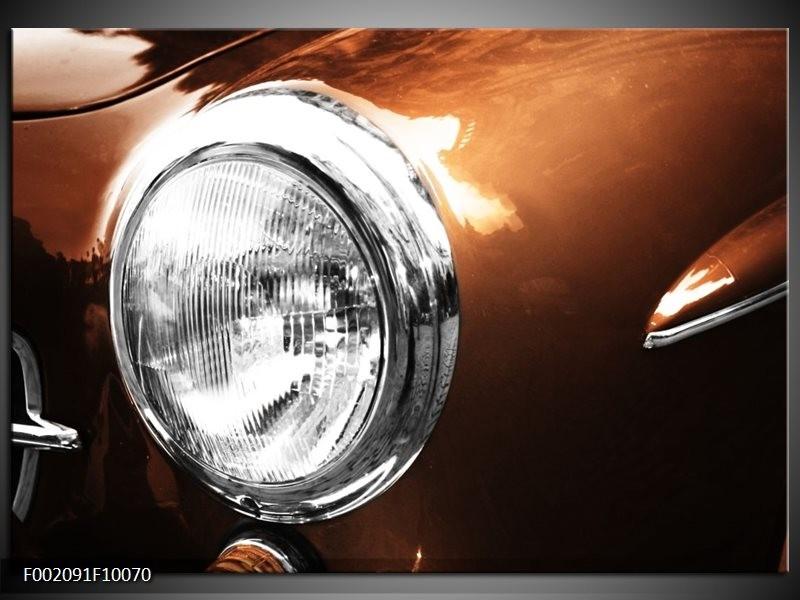 Foto canvas schilderij Auto   Bruin, Wit, Zilver