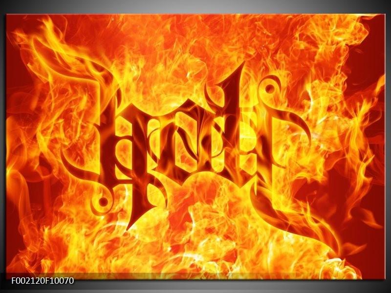 Foto canvas schilderij Vuur   Zwart, Oranje, Geel