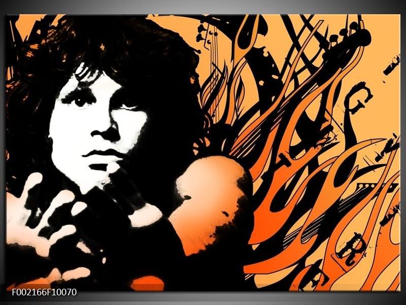 Foto canvas schilderij Muziek   Zwart, Wit, Oranje