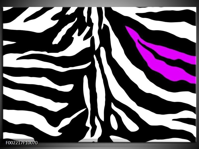 Foto canvas schilderij Abstract | Zwart, Wit, Paars