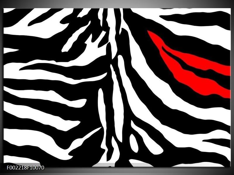 Foto canvas schilderij Abstract | Zwart, Wit, Rood
