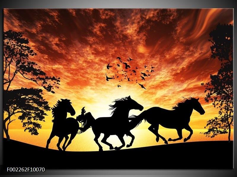 Foto canvas schilderij natuur oranje zwart bruin for Schilderij natuur