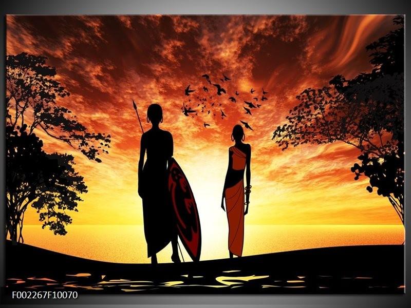 Foto canvas schilderij Natuur | Oranje, Rood, Bruin