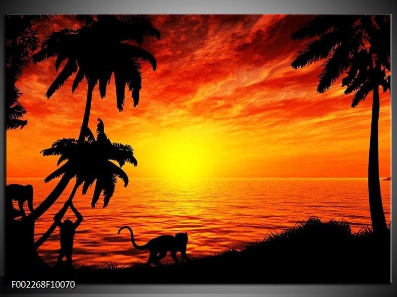 Foto canvas schilderij Natuur   Oranje, Rood, Bruin