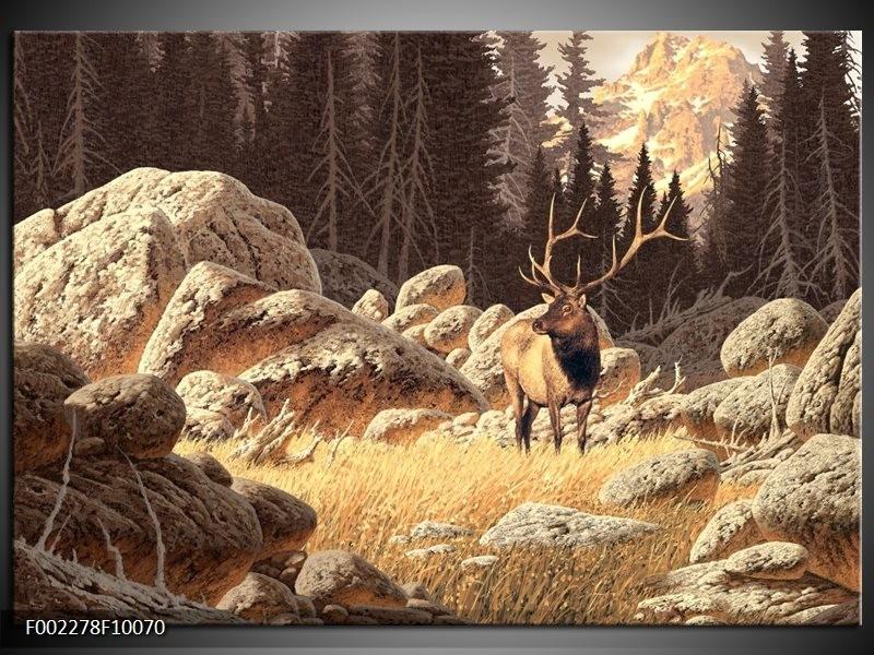 Foto canvas schilderij natuur bruin wit groepart for Schilderij natuur