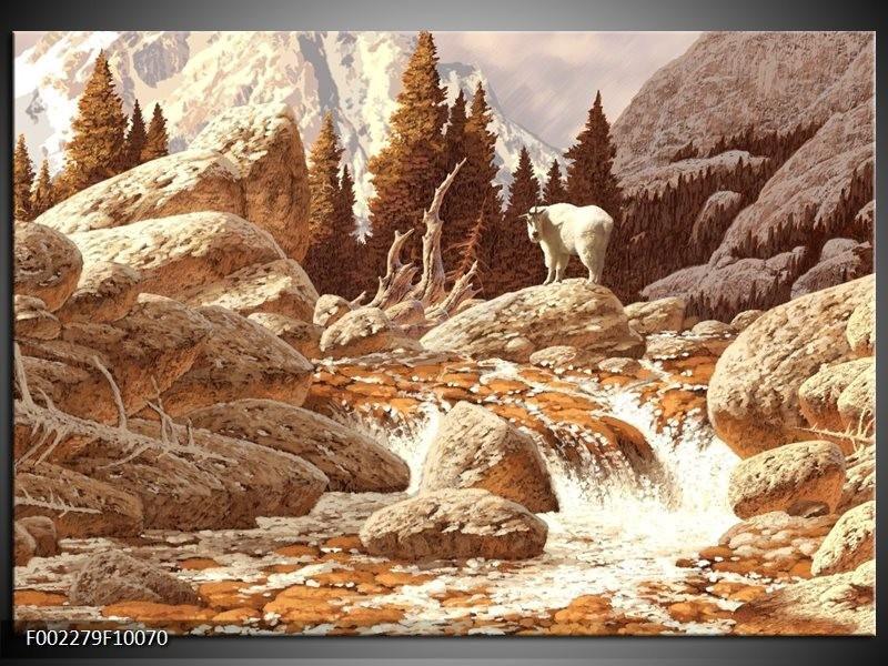 Glas schilderij natuur bruin wit groepart for Schilderij natuur