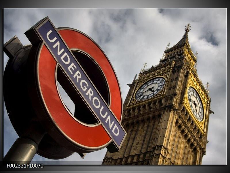Foto canvas schilderij Engeland | Zwart, Wit, Rood