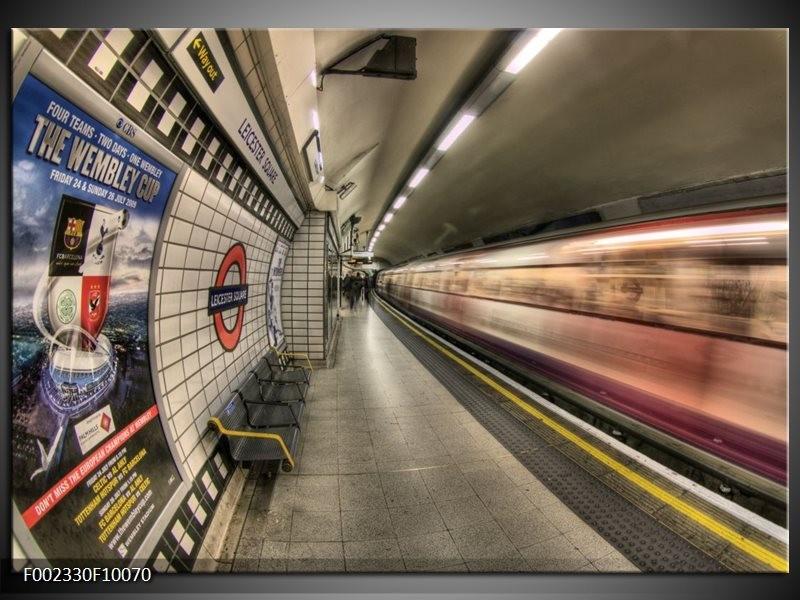 Foto canvas schilderij Engeland | Grijs, Rood, Blauw