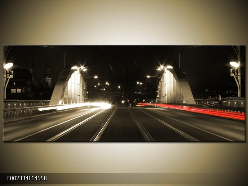 OP VOORRAAD Foto canvas schilderij Straat | 145x58cm | F002334