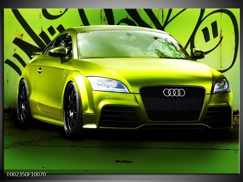 Foto canvas schilderij Audi | Groen, Zwart