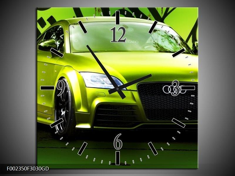Wandklok op Glas Audi | Kleur: Groen, Zwart | F002350CGD