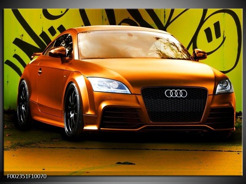 Foto canvas schilderij Audi   Bruin, Groen, Zwart
