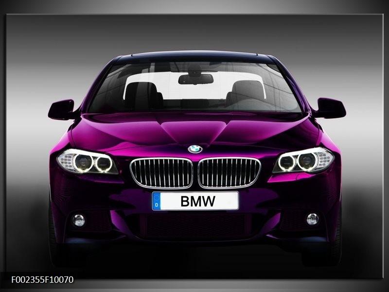 Foto canvas schilderij BMW | Paars, Grijs