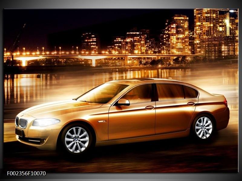 Foto canvas schilderij BMW | Geel, Goud, Zwart