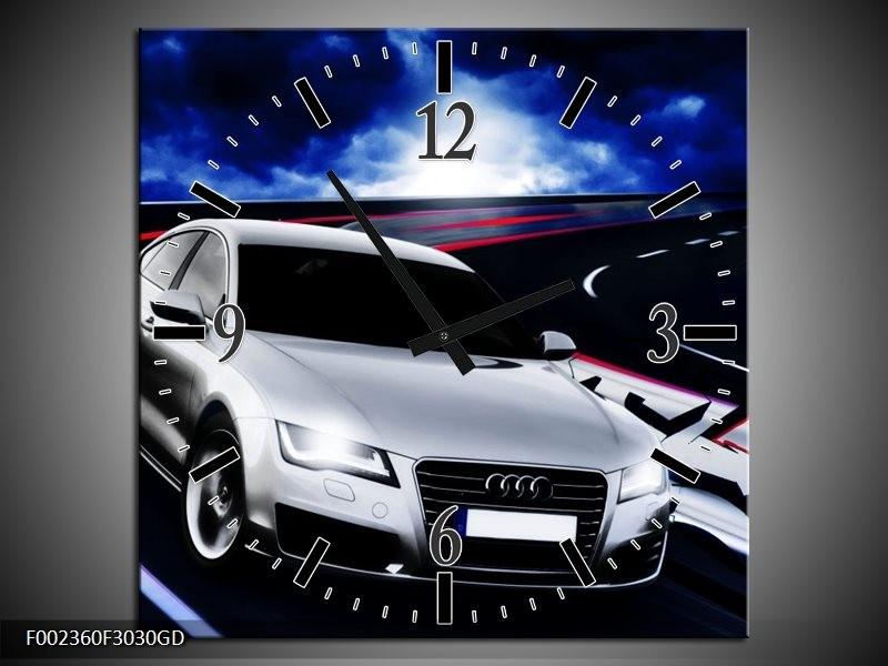 Wandklok op Glas Audi   Kleur: Grijs, Blauw, Rood   F002360CGD