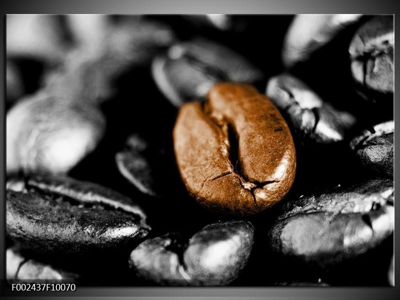 Foto canvas schilderij Koffie | Bruin, Zwart, Grijs