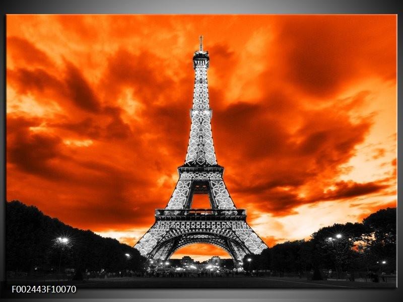 Foto canvas schilderij Parijs | Rood, Grijs, Zwart