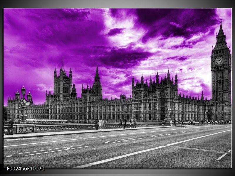 Foto canvas schilderij Londen | Paars, Grijs, Zwart