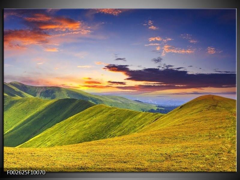 Foto canvas schilderij Natuur | Groen, Geel, Blauw