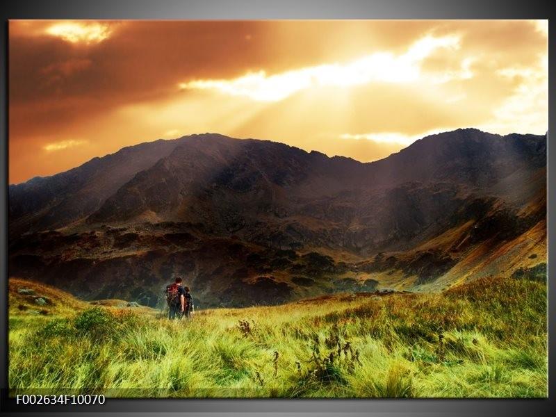 Foto canvas schilderij Natuur   Wit, Bruin, Groen