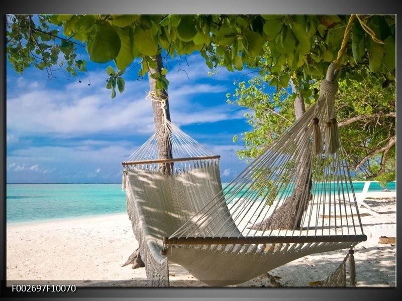 Foto canvas schilderij Vakantie | Blauw, Wit, Groen