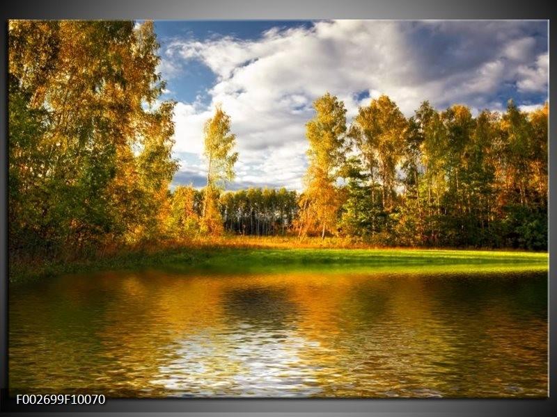 Glas schilderij natuur groen bruin wit groepart for Schilderij natuur