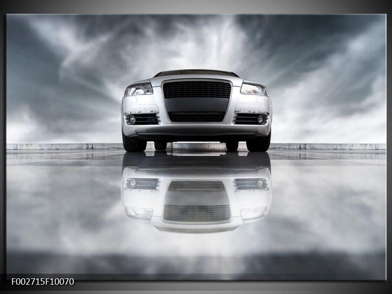 Foto canvas schilderij Audi | Wit, Grijs, Zwart