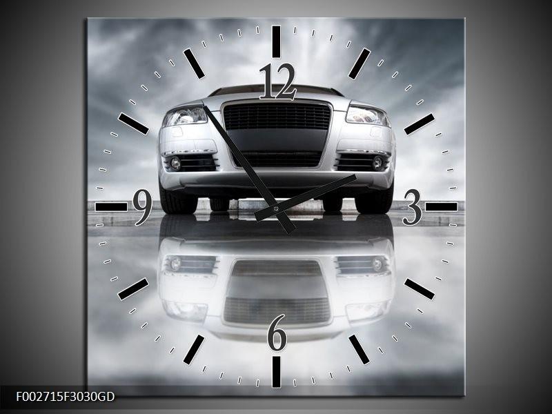 Wandklok op Glas Audi   Kleur: Wit, Grijs, Zwart   F002715CGD