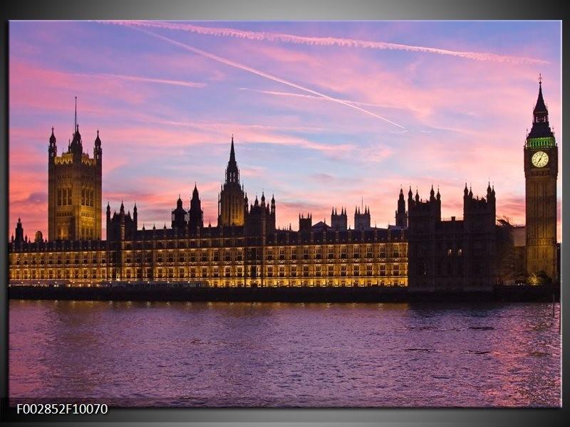 Foto canvas schilderij England | Grijs, Paars, Wit