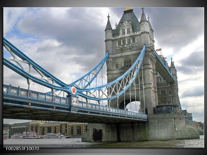 Foto canvas schilderij England   Grijs, Blauw, Wit