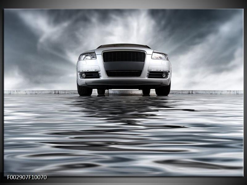 Foto canvas schilderij Auto | Grijs, Zwart, Wit