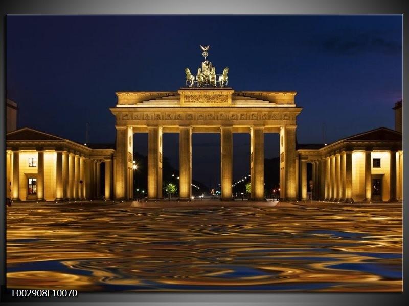 Foto canvas schilderij Berlijn | Geel, Bruin, Zwart