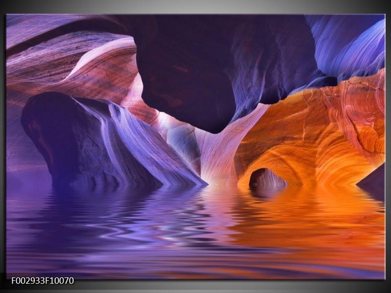 Foto canvas schilderij Natuur | Blauw, Geel, Paars