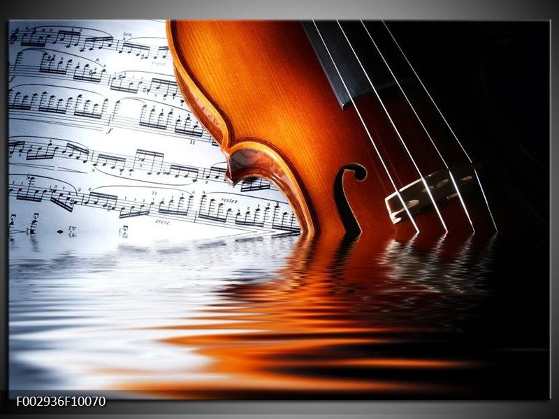 Foto canvas schilderij Instrument | Wit, Bruin, Zwart