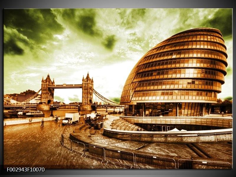 Foto canvas schilderij London | Groen, Bruin