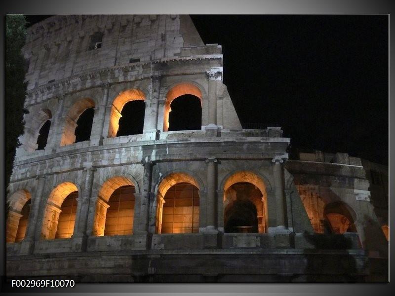 Foto canvas schilderij Rome | Geel, Grijs, Zwart