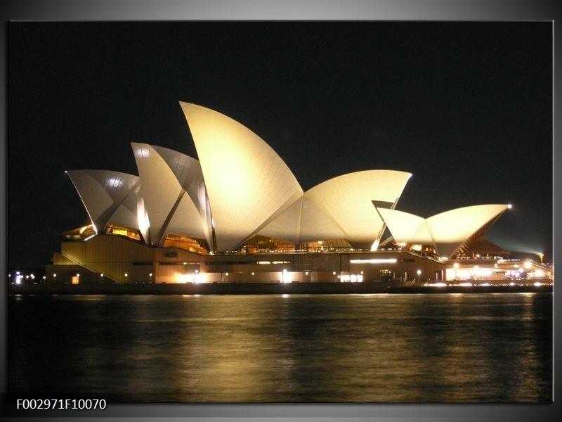 Foto canvas schilderij Sydney | Wit, Zwart, Grijs