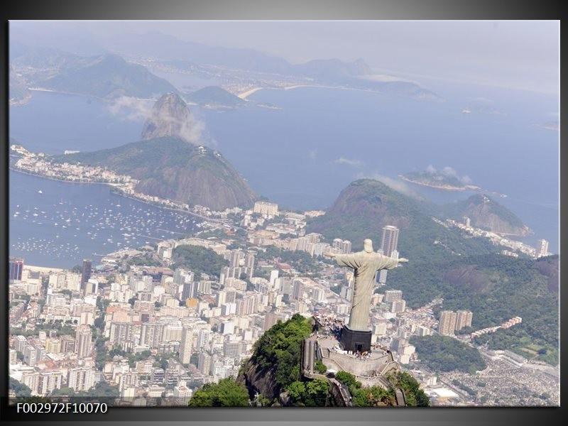 Foto canvas schilderij Brazilie | Grijs, Blauw, Wit