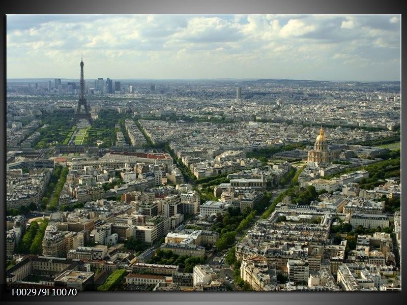 Foto canvas schilderij Paris | Groen, Grijs